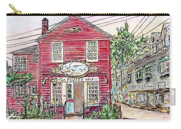 Pewter Shop, Rockport Massachusetts Carry-all Pouch