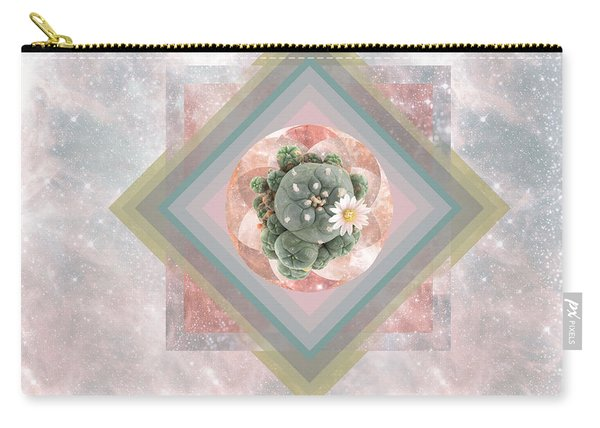 Peyote Sacred Geometry Mandala Carry-all Pouch