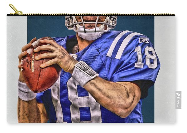 Peyton Manning Indianapolis Colts Art Carry-all Pouch