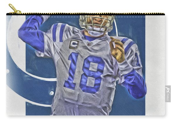 Peyton Manning Indianapolis Colts Oil Art Carry-all Pouch