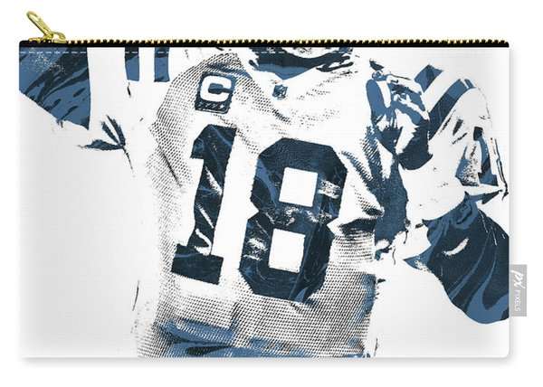 Peyton Manning Indianapolis Colts Pixel Art 2 Carry-all Pouch