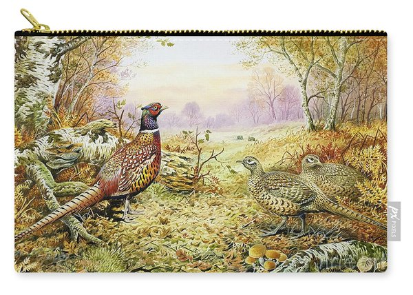 Pheasants In Woodland Carry-all Pouch