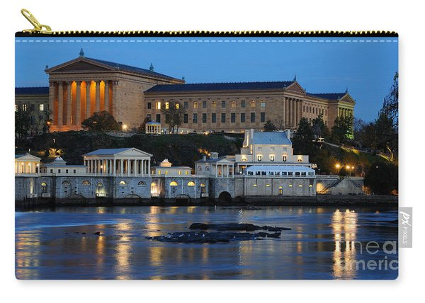 Philadelphia Art Museum And Fairmount Water Works Carry-all Pouch