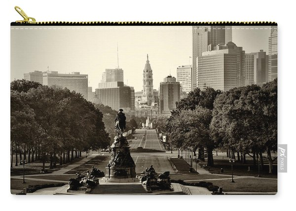 Philadelphia Benjamin Franklin Parkway In Sepia Carry-all Pouch