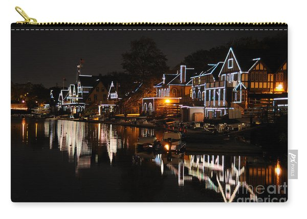 Philadelphia Boathouse Row At Night Carry-all Pouch