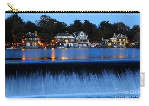 Philadelphia Boathouse Row At Twilight Carry-all Pouch