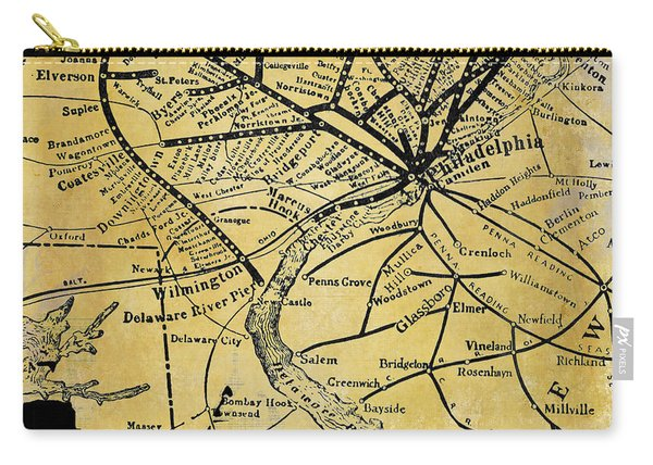 Philadelphia Skyline Map Carry-all Pouch