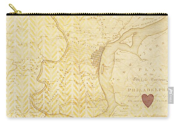 Philadelphia Vintage Map Carry-all Pouch