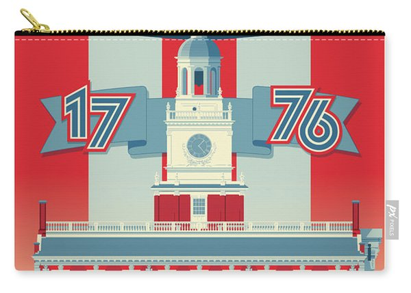 Philadelphia Poster - Independence Hall Carry-all Pouch