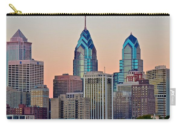 Philly At Sunset Carry-all Pouch