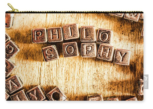 Philosophy Word Art Carry-all Pouch
