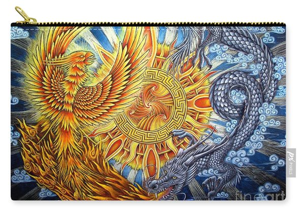 Phoenix And Dragon Carry-all Pouch