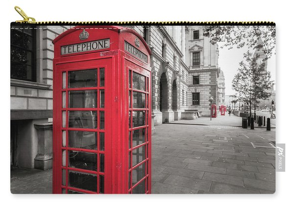Phone Booths In London Carry-all Pouch