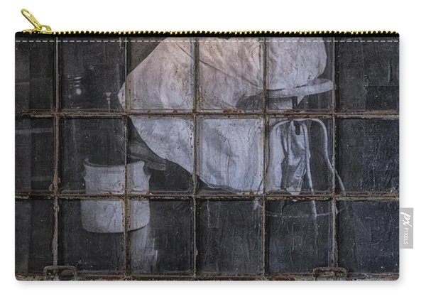 Carry-all Pouch featuring the photograph Physician In The Window by Tom Singleton
