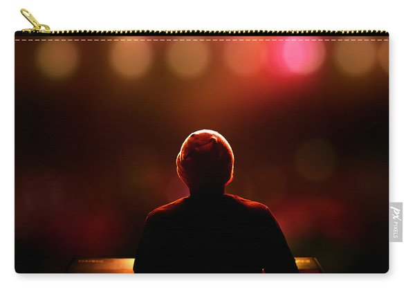 Pianist On Stage From Behind Carry-all Pouch