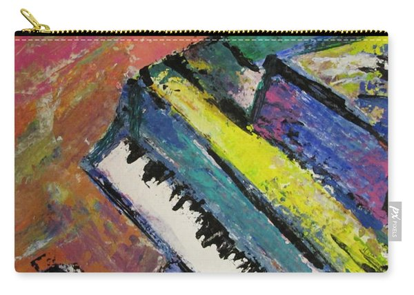 Piano With Yellow Carry-all Pouch