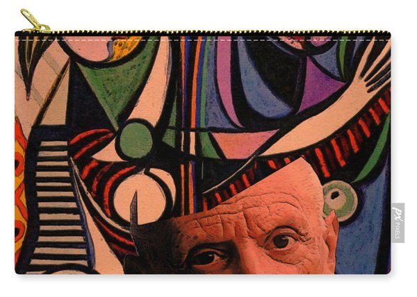 Picaso Study In Orange Carry-all Pouch