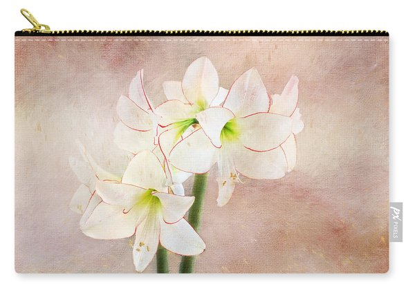 Picotee Amaryllis Carry-all Pouch
