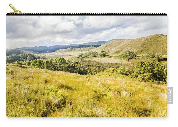 Picturesque Tasmanian Field Landscape Carry-all Pouch