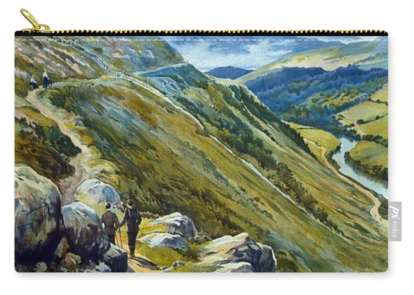 Picturesque Wales - Landscape Painting - Great Western Railway - Vintage Poster Carry-all Pouch