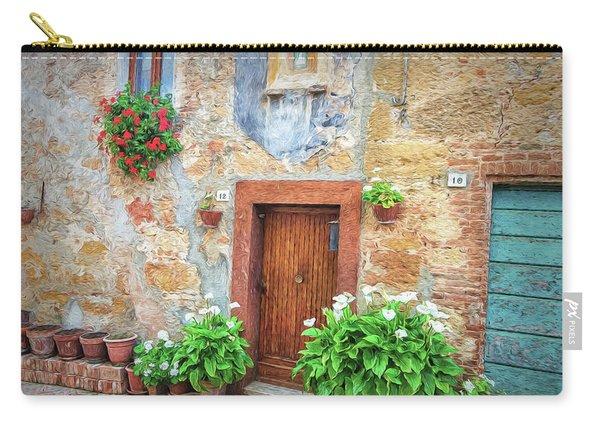 Pienza Street Scene Carry-all Pouch