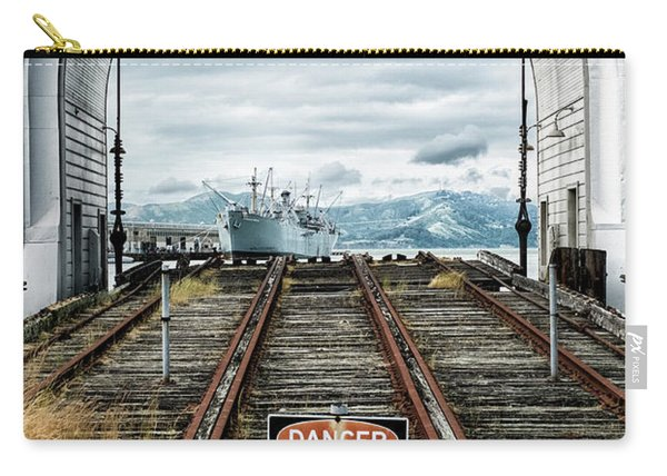 Carry-all Pouch featuring the photograph Pier 43 Ferry Arch San Francisco California by Mary Lee Dereske