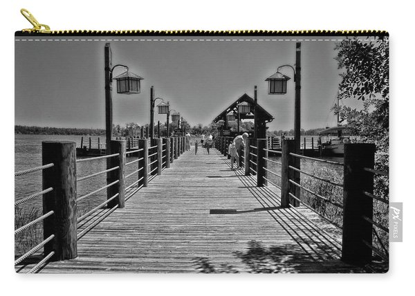 Pier At Fort Wilderness In Black And White Walt Disney World Mp Carry-all Pouch