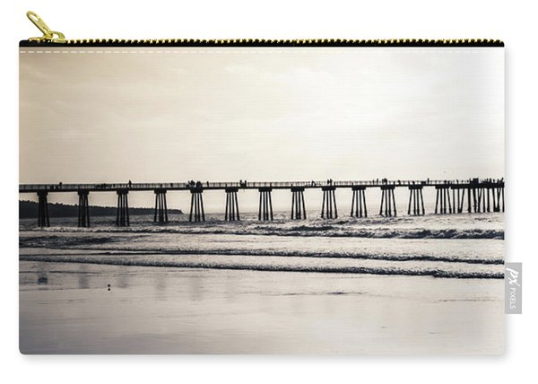 Carry-all Pouch featuring the photograph Pier On Duotone by Michael Hope