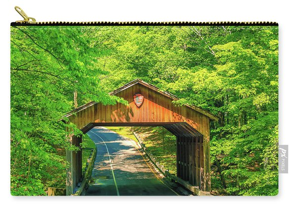 Pierce Stocking Scenic Drive Covered Bridge Carry-all Pouch