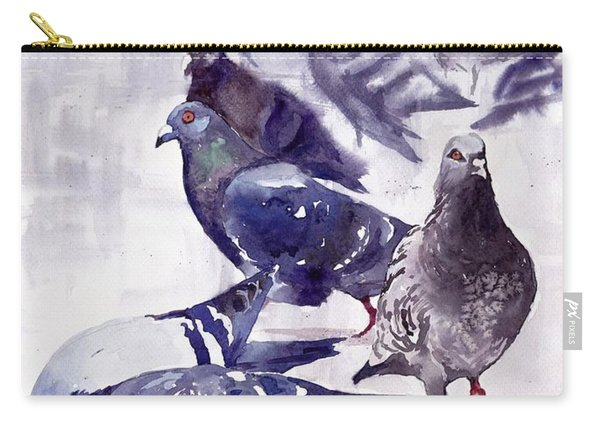 Pigeons Watercolor Carry-all Pouch