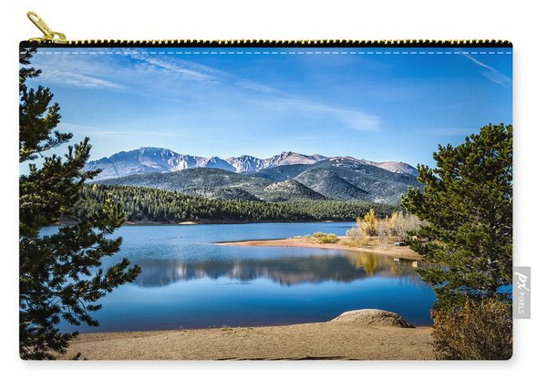 Pikes Peak Over Crystal Lake Carry-all Pouch