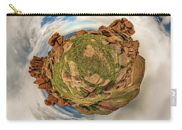 Pikes Peak Tiny Planet #2 Carry-all Pouch