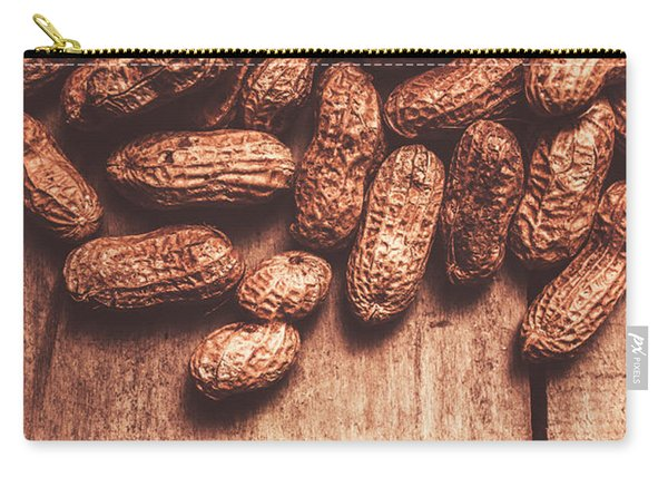 Pile Of Peanuts Covering Top Half Of Board Carry-all Pouch