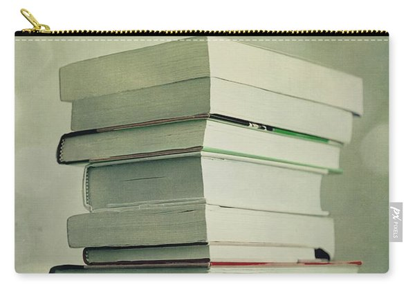 Piled Reading Matter Carry-all Pouch