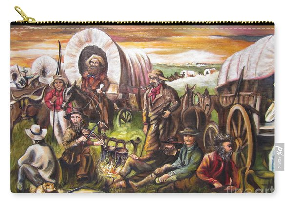American    History  Pilgrims On The Plain Carry-all Pouch