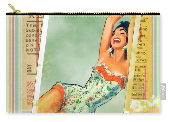Pin Up Girl Square Carry-all Pouch