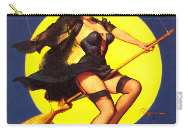 Pin Up Sexy Witch Carry-all Pouch