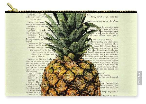 Pineapple In Color Illustration Carry-all Pouch