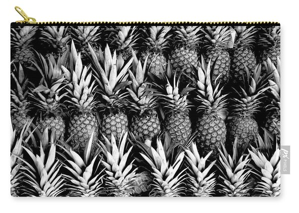 Pineapples In B/w Carry-all Pouch