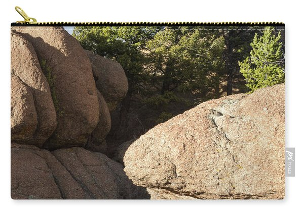 Carry-all Pouch featuring the photograph Pines In Granite by Tim Newton