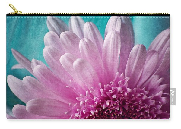 Pink And Aqua Carry-all Pouch