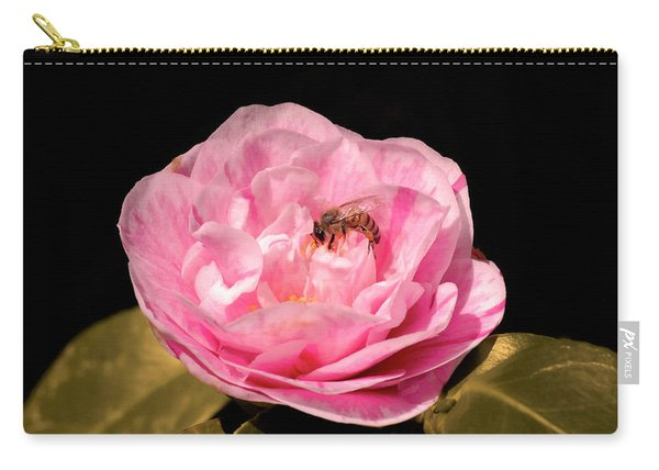 Pink And Bee Carry-all Pouch