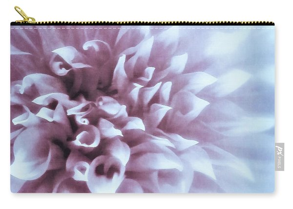 Pink And Blue Dahlia Carry-all Pouch