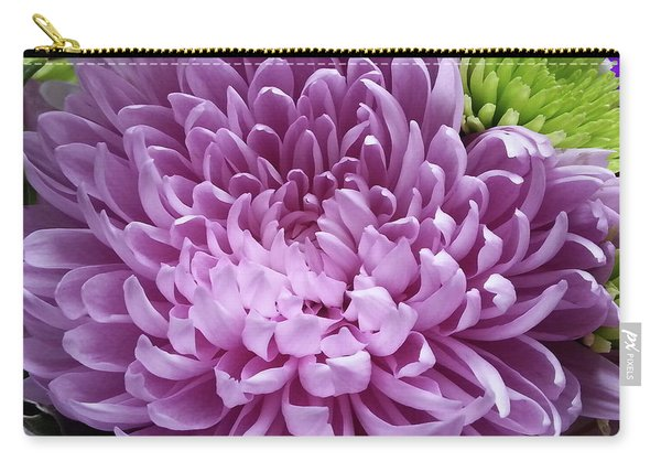 Pink And Green Defined Carry-all Pouch