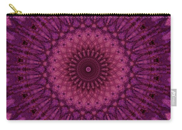 Pink And Violet Mandala Carry-all Pouch