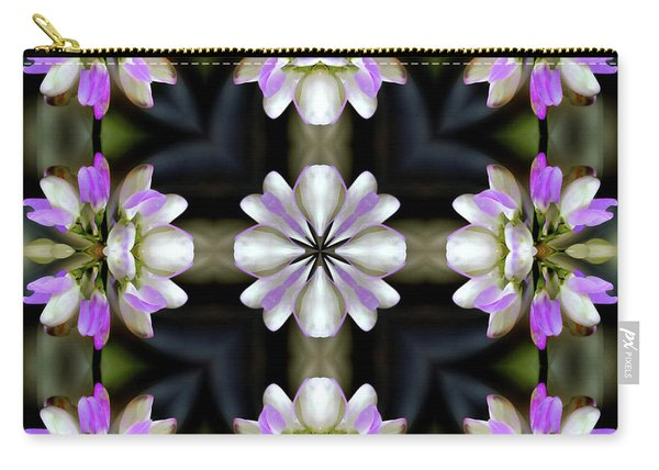 Pink And White Flowers Abstract Carry-all Pouch