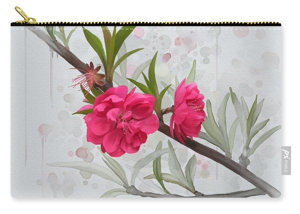Hot Pink Blossom Carry-all Pouch
