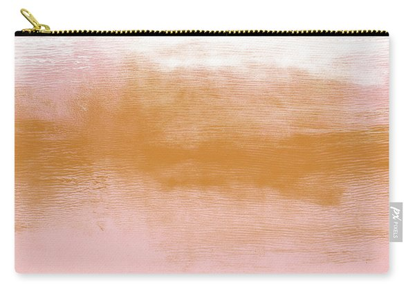 Pink Blush Landscape- Abstract Art By Linda Woods Carry-all Pouch