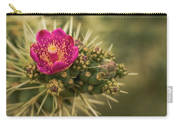 Pink Cactus Bloom Saguaro National Park Arizona Carry-all Pouch