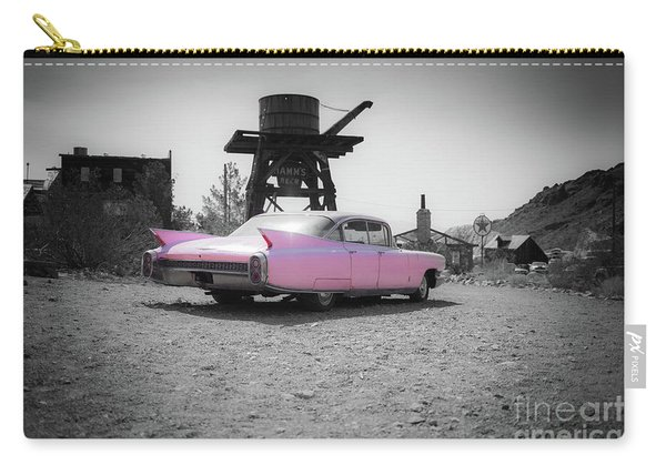 Pink Caddy In The Desert Carry-all Pouch